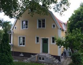 Tak- och fasadrenovering på Björkvägen 24 i Solna